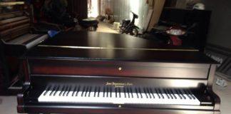 Đại tu và sơn đàn piano cổ