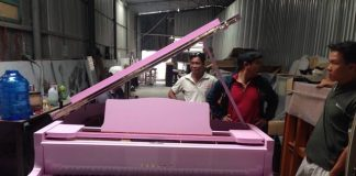 Sơn đàn và đại tu piano G2 màu hồng